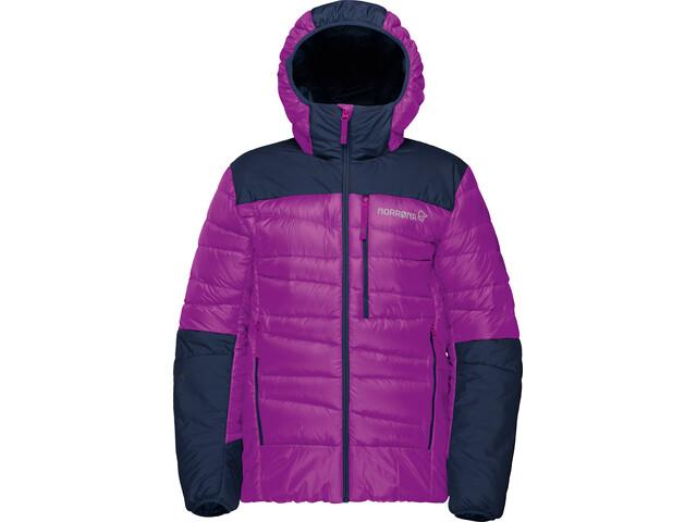 Norrøna Junior Falketind Down750 Hood Jacket Royal Lush